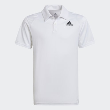 Boys Tennis White Club Tennis Polo Shirt