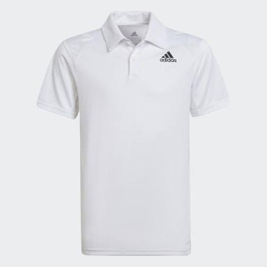 Polera con Cuello de Tenis Club Blanco Niño Tenis