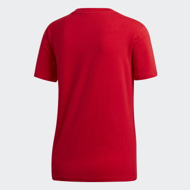 Women Originals Red Trefoil Tee