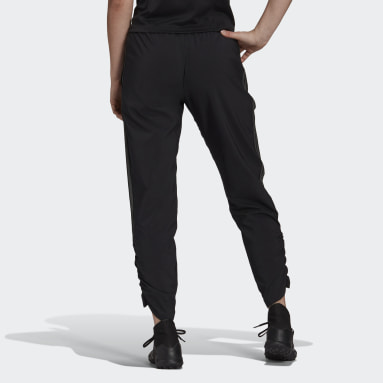 Women Cricket Black Tiro Woven Ruched Tracksuit Bottoms