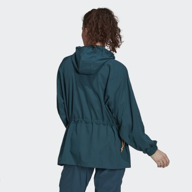 Women's Essentials Turquoise Packable Lightweight Hooded Jacket
