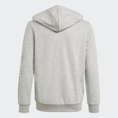 Hoodie Essentials Grigio Ragazzo Sportswear