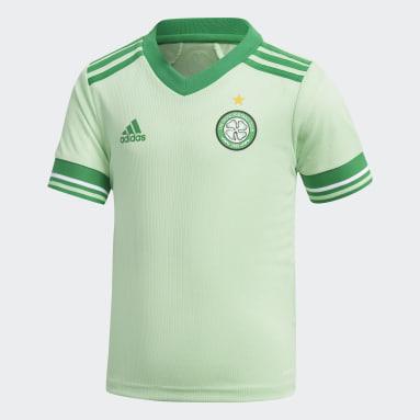 Kids 4-8 Years Football Green Celtic FC 20/21 Away Mini Kit