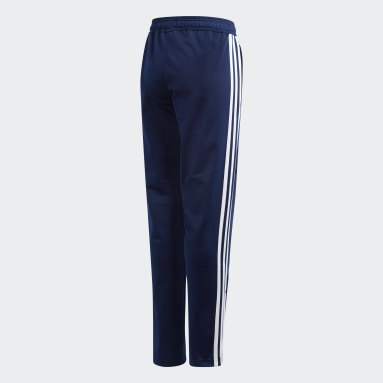 Kids Gym & Training Blue Tiro 19 Polyester Tracksuit Bottoms