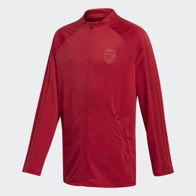 Kids Football Burgundy Arsenal Anthem Jacket