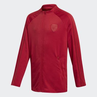 Kinder Fußball FC Arsenal Anthem Jacke Weinrot