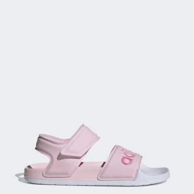 Women Swimming Pink Adilette Sandals