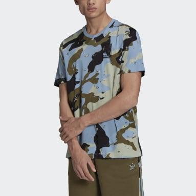 T-shirt Graphics Camo Allover Print Blu Uomo Originals