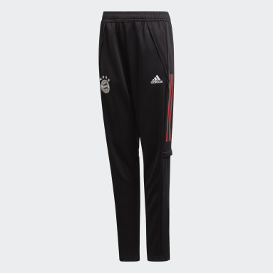 Kids Football Black FC Bayern Training Tracksuit Bottoms