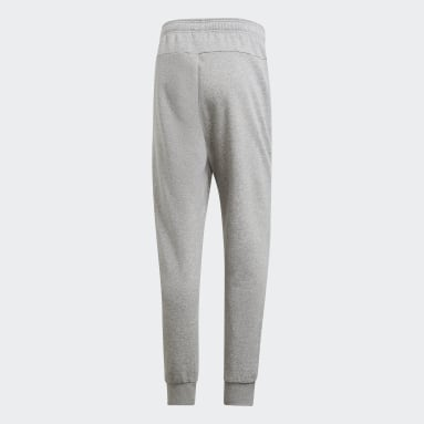 Men Sportswear Grey Essentials Plain Tapered Cuffed Pants