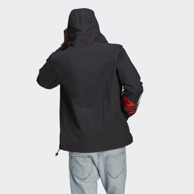 Men Originals Black Adicolor Windbreaker