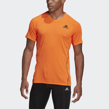 Männer Running Runner T-Shirt Orange