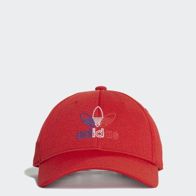 Boné Baseball Classic Trefoil Vermelho Originals