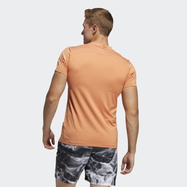 T-shirt Primeblue AEROREADY 3-Stripes Slim Orange Hommes Entraînement