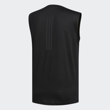 Men Yoga Black FreeLift Tech Climacool 3-Stripes Tee