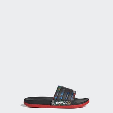 Kids Swimming Black adidas Adilette Comfort x LEGO® Slides
