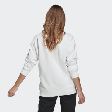 Women's Originals White Trefoil Crew Sweatshirt