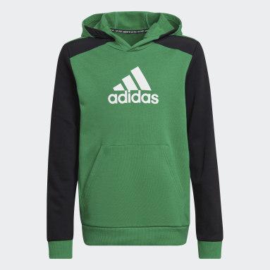 Youth 8-16 Years Gym & Training Green Logo Hoodie
