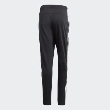 Pantalon Essentials 3-Stripes Tapered Open Hem Noir Hommes Sportswear