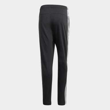 Pantalón Essentials Tapered Open Hem 3 Tiras Negro Hombre Diseño Deportivo