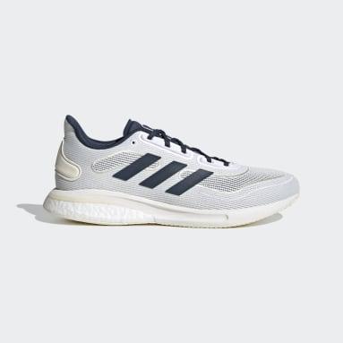 Men Running White Supernova Shoes