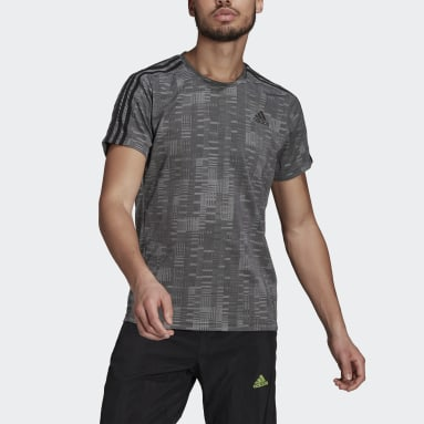 Men Running Black adidas Own The Run Primeblue Tee