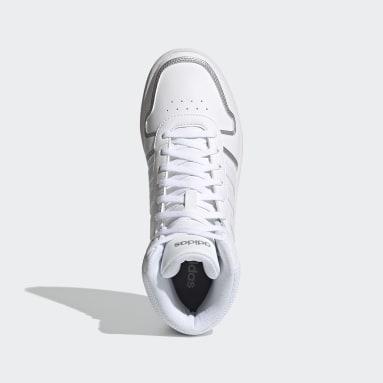 Women Walking White Hoops 2.0 Mid Shoes