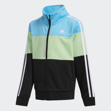 Youth Training Blue Colorblock Jacket