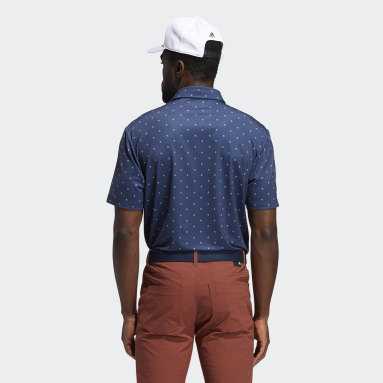 Men Golf Blue Ultimate365 Printed Polo Shirt