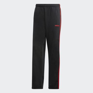 Heren Fitness En Training Zwart 3-Stripes Broek