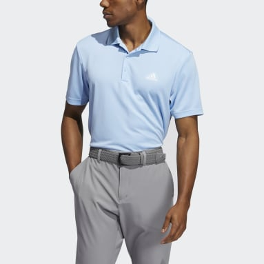 Men Golf Blue Performance Primegreen Polo Shirt