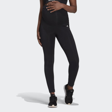 Women Sport Inspired Black Essentials Cotton Leggings (Maternity)