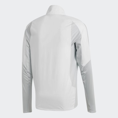 Men Football White Ultimate 19 Hybrid Training Top