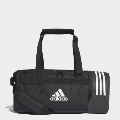 Field Hockey Black Convertible 3-Stripes Duffel Bag Small