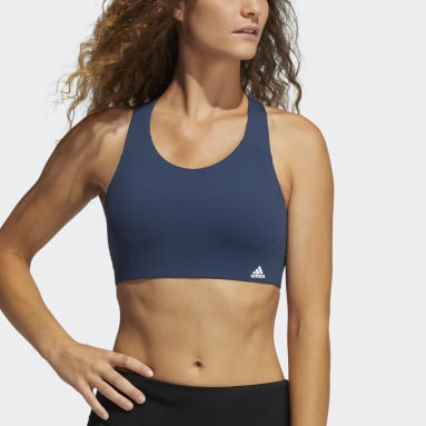 Women Winter Sports Blue Ultimate Bra
