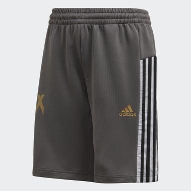 Pantalón corto Football-Inspired X AEROREADY Gris Niño Gimnasio Y Entrenamiento