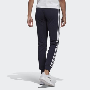Pantalon Essentials French Terry 3-Stripes Bleu Femmes Sportswear