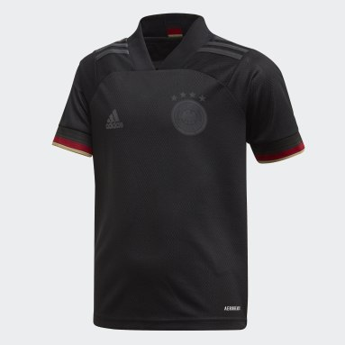 Divisa Mini Away Germany Nero Bambini Calcio