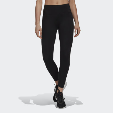 Women Training Black Parley Tights