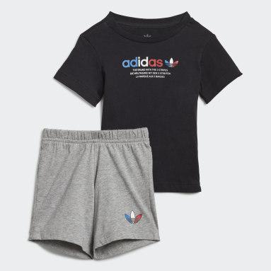 Conjunto T-shirt e Calções Adicolor Preto Criança Originals