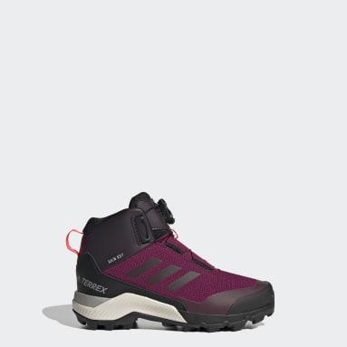 Chaussure de randonnée Terrex Winter Mid Boa Bordeaux Enfants TERREX