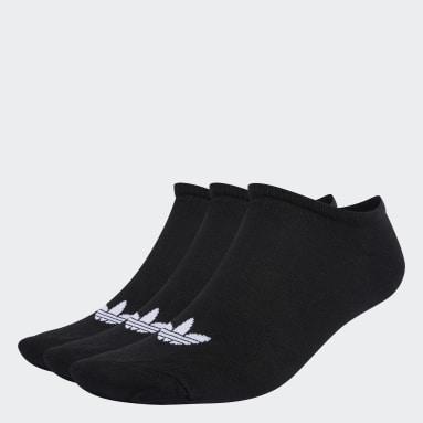 Originals Black Trefoil Liner Socks 3 Pairs