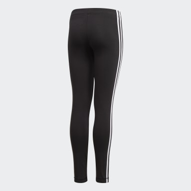 Calzas Essentials 3 Tiras - Tiro Bajo Negro Niño Sportswear