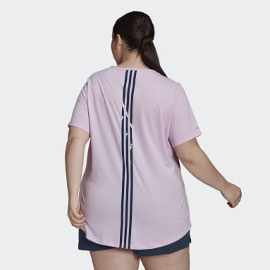 Women's Essentials Purple adidas x Zoe Saldana AEROREADY Tee (Plus Size)