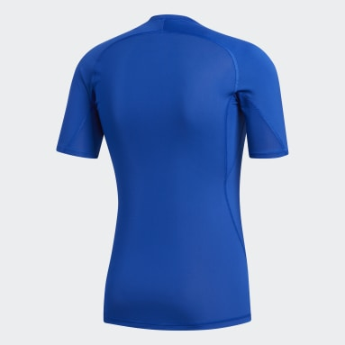 Men Field Hockey Blue Alphaskin Sport Tee