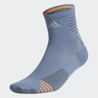 Training Grey Running Mid Crew Socks