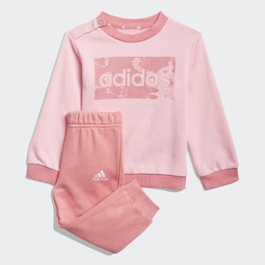 Kids Sportswear Pink adidas Essentials Sweatshirt and Pants