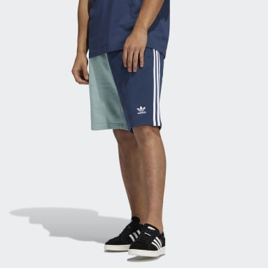 Short Blocked 3-Stripes Sweat Bleu Hommes Originals