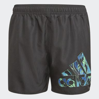 Boys Swimming Black Bold Shorts
