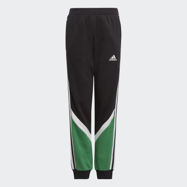 Boys Gym & Training Black Comfort Colorblock Pants